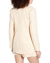 Endless Rose Tailored Single Button Blazer - White
