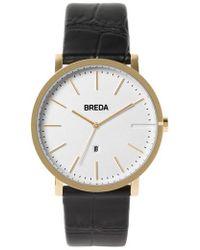 Breda - Breuer Leather Strap Watch - Lyst