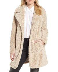 Kenneth Cole | Faux Fur Coat | Lyst