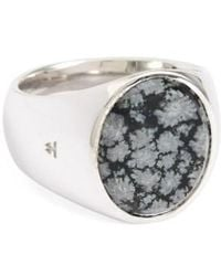 Tom Wood - Snowflake Obsidian Oval Signet Ring - Lyst