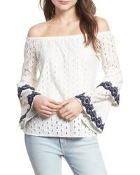 Bailey 44 - Phlox Eyelet Off The Shoulder Top - Lyst