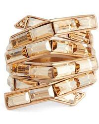 St. John - Swarovski Crystal Cocktail Ring - Lyst