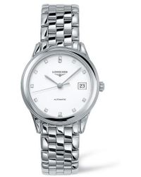Longines - Flagship Automatic Diamond Bracelet Watch - Lyst