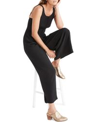 Madewell Apron Bow Back Jumpsuit In Black Lyst