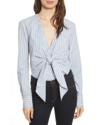 Veronica Beard - Diana Stripe Bodysuit - Lyst