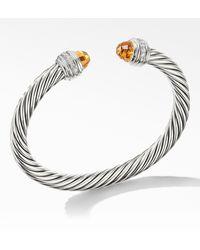 David Yurman Cable Classics Bracelet With Semiprecious Stones & Diamonds - Metallic
