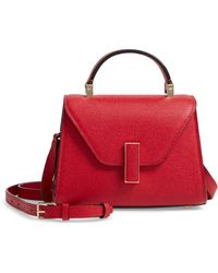 Valextra Iside Micro Top Handle Bag - Red