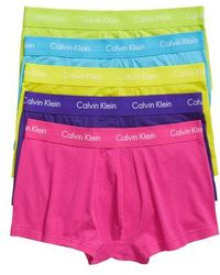 Calvin Klein - 5-pack Stretch Cotton Low Rise Trunks - Lyst