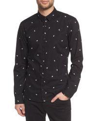 HUGO - Ero Dragonfly Slim Fit Sport Shirt - Lyst