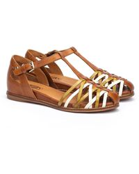 Pikolinos Talavera Wedge Sandal - Brown
