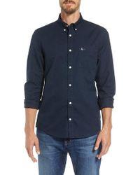 Jack Wills - Wadsworth Long Sleeved Shirt Navy - Lyst