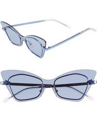 ad6beaf22e6 Karen Walker - Mrs. Brill 53mm Cat Eye Sunglasses - Clear - Lyst