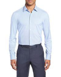 BOSS - Jenno Slim Fit Stretch Check Dress Shirt - Lyst