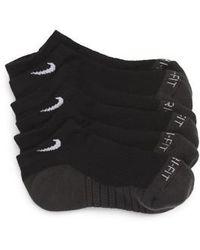Nike - 3-pack Cushioned Dri-fit No-show Socks, Black - Lyst