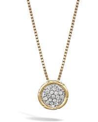 John Hardy - Bamboo Diamond Pendant Necklace - Lyst