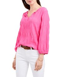 Vince Camuto Smocked Blouse - Pink