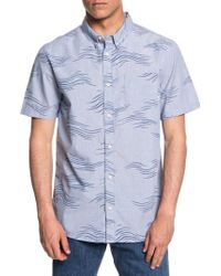 Quiksilver - Valley Groove Print Woven Shirt - Lyst