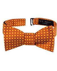 Ted Baker - Connect Four Floral Silk Bow Tie - Lyst