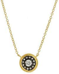 Freida Rothman - 'hamptons' Nautical Button Pendant Necklace - Lyst
