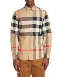 Burberry Men's Windsor Check Sport Shirt - Natural