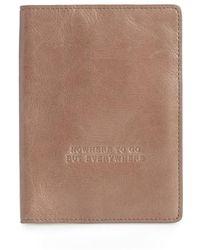 Hobo - Quest Calfskin Leather Passport Wallet - Lyst
