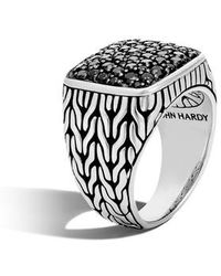 John Hardy - Classic Chain Silver Signet Ring - Lyst