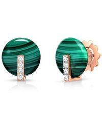 Roberto Coin - Mini Jade & Diamond Earrings - Lyst