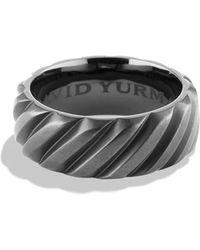 David Yurman - 'modern Cable' Wide Band Ring - Lyst