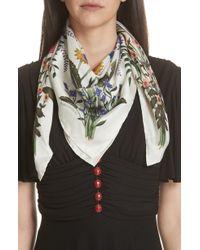 Gucci New Flora Silk Scarf - Multicolor