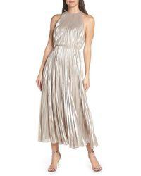 JILL Jill Stuart - Pleated Metallic Dress - Lyst