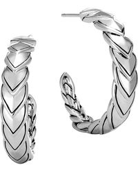 John Hardy - Naga Small Hoop Earrings - Lyst