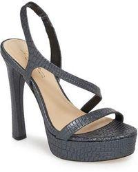 Imagine Vince Camuto - Prent Asymmetrical Platform Sandal - Lyst