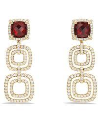 David Yurman - Chatelaine Pave Diamond Bezel 18k Gold Statement Drop Earrings - Lyst