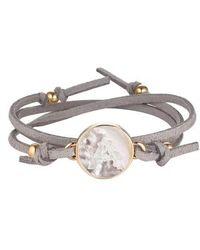 Asha | Initial Suede Wrap Bracelet | Lyst