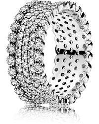 PANDORA - Lavish Sparkle Band Ring - Lyst