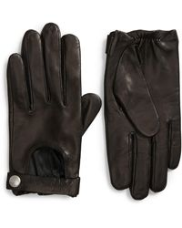 AllSaints Leather Driving Gloves - Black