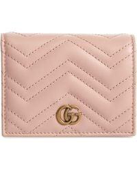 Gucci - Gg Marmont 2.0 Matelassé Leather Card Case - Lyst
