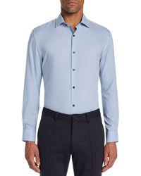 W.r.k. Trim Fit Stretch Stripe Performance Dress Shirt - Blue