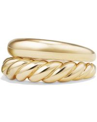 David Yurman - 'pure Form' Stack Rings In 18k Gold - Lyst