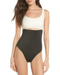 bfa51795c9fc2 Solid   Striped - The Natasha One-piece Swimsuit - Lyst