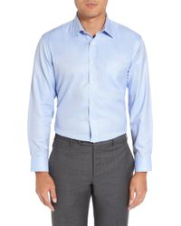Nordstrom - Smartcaretm Trim Fit Herringbone Dress Shirt - Lyst