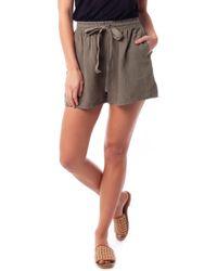 Rhythm Amalfi Linen Shorts - Green