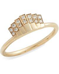 Jennie Kwon Diamond Fan Ring - Metallic