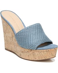 Veronica Beard Dali Woven Platform Wedge Sandal - Blue