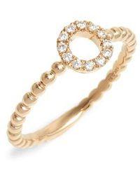 Dana Rebecca - Poppy Rae Diamond Circle Ring - Lyst