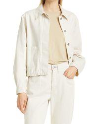 Rag & Bone Naval Chore Cotton Hemp Jacket Relaxed Fit Jacket - Natural