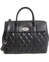 Mulberry - Bayswater Quilted Calfskin Leather Satchel - Lyst