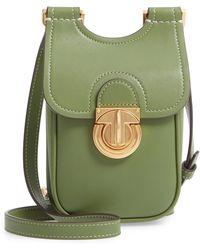 55183698179 Tory Burch Marsden Leather Wallet Crossbody Bag in Black - Lyst