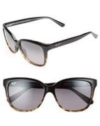 Maui Jim Starfish 56mm Polarizedplus2 Cat Eye Sunglasses - Black