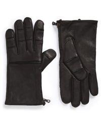 John Varvatos Deerskin Leather Gloves - Black